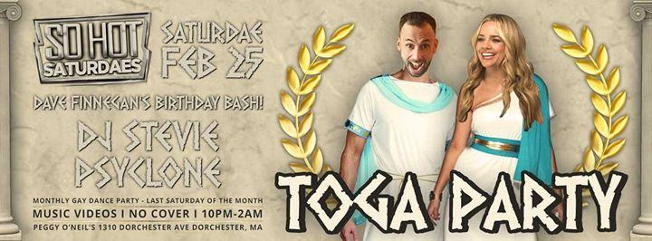 So Hot Saturdae's: Toga Party 2/25/2017 10:00:00 PM