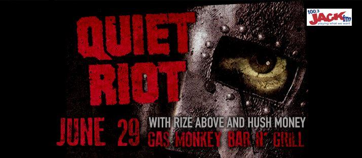 Quiet Riot at Gas Monkey Bar N' Grill 6/29/2016 8:00:00 PM