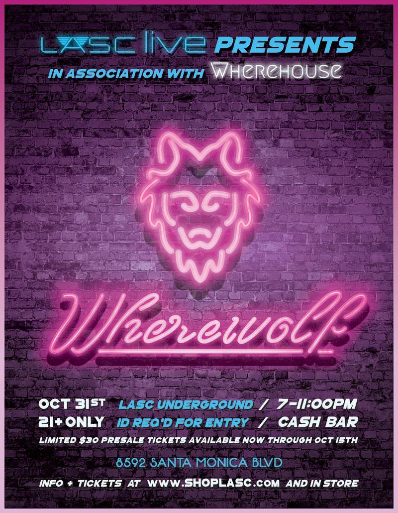 Wherewolf Halloween 10/31/2016 7:00:00 PM