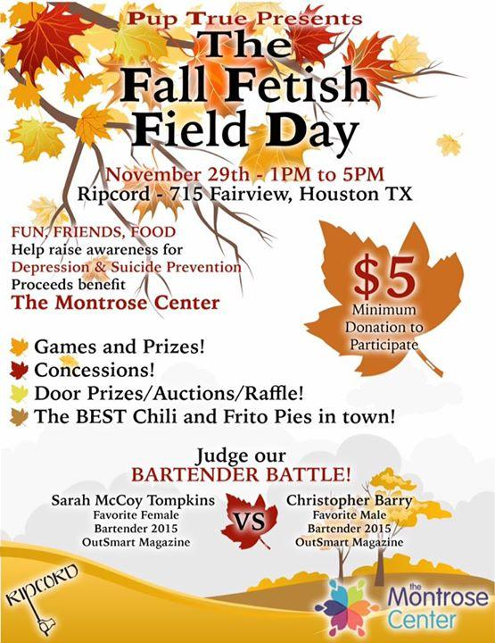 Pup True Presents The Fall Fetish Field Day! 11/29/2015 10:00:00 AM