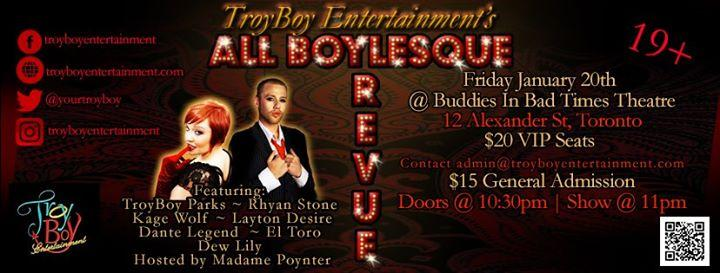 All BOYlesque Revue at Buddies - Fri. Jan. 20th 1/20/2017 10:30:00 PM
