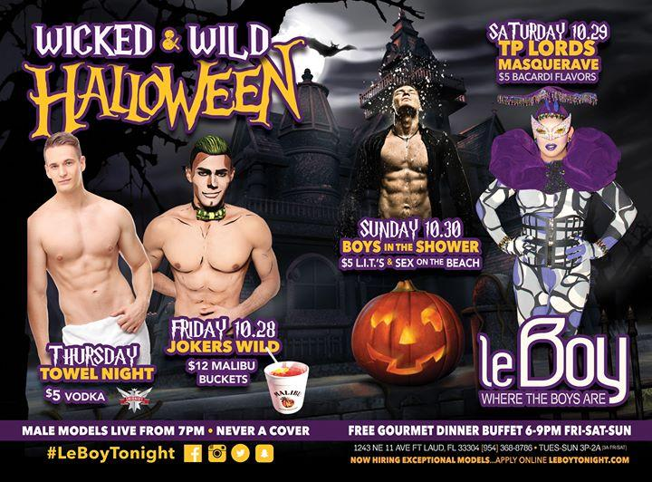 LeBoy presents a Wicked & WILD Halloween 10/27/2016 12:00:00 AM