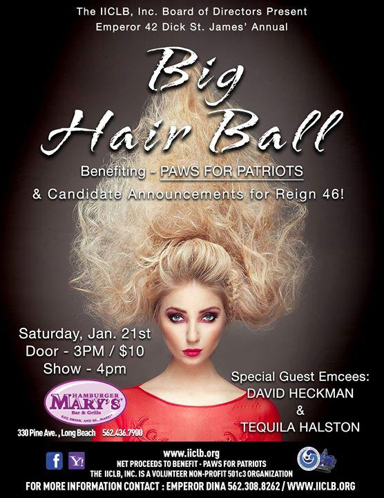 Emperor Dick's Big Hair Ball 1/21/2017 3:00:00 PM