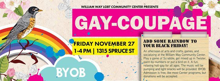 Gaycoupage! An Arts & Crafts Social 11/27/2015 1:00:00 PM