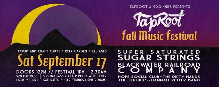 TapRoot Fall Music Festival 9/17/2016 12:00:00 AM