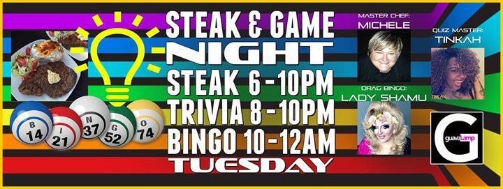 Steak & Game Night: Steak Night, Trivia & Bingo! 2/28/2017 6:00:00 PM
