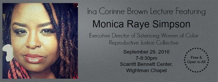 2nd Annual Ina Corinne Brown Lecture 9/29/2016 7:00:00 PM