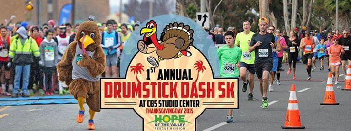 1st Annual Drumstick Dash 5K Thanksgiving Morning 11/26/2015 8:00:00 AM
