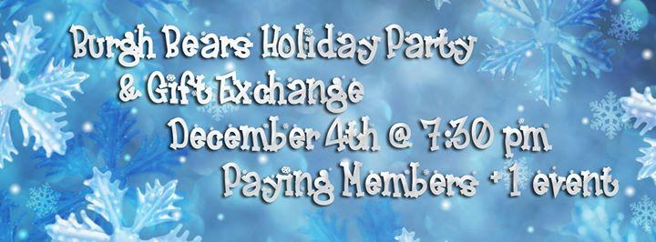 Burgh Bears Annual Holiday Party 12/4/2015 7:30:00 PM