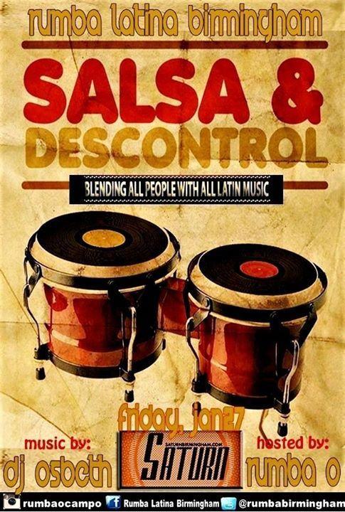 Rumba Latina Birmingham: Latin Night at Saturn 1/27/2017 9:00:00 PM