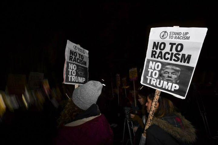 Manchester Protest at Trump's inauguration 1/20/2017 6:00:00 PM