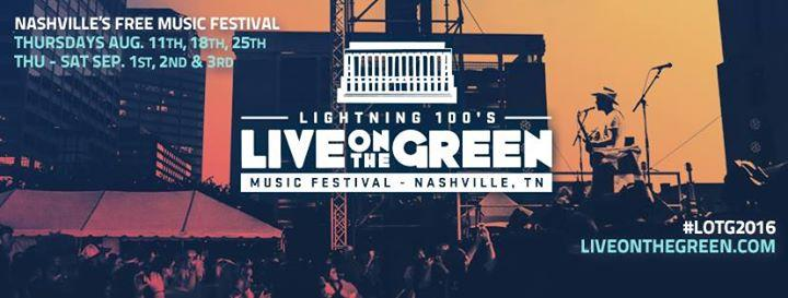 Live On The Green Music Festival 2016 (3-Day Weekend) 9/2/2016 5:00:00 PM