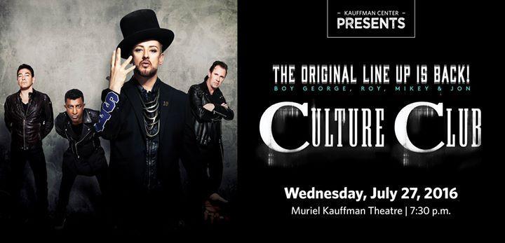 Culture Club 7/27/2016 7:30:00 PM