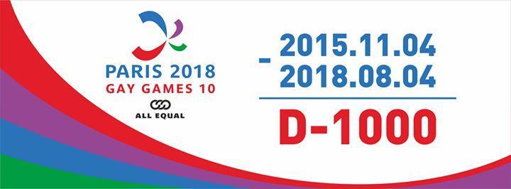 Paris 2018 - Gay Games 10 8/4/2016 12:00:00 AM