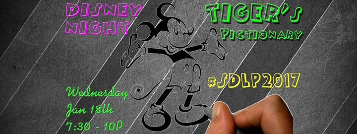 #SDLP2017 Disney Night @ Tiger's Pictionary 1/18/2017 7:30:00 PM