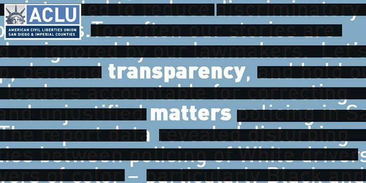 Transparency Matters! 2/27/2017 1:00:00 PM