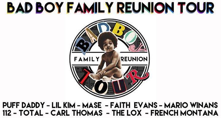 Bad Boy Family Reunion Tour 8/31/2016 8:00:00 PM