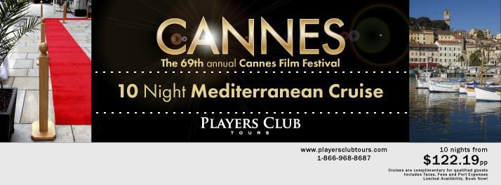 10 Night Cannes Film Festival Cruise Event 5/9/2016 12:00:00 AM
