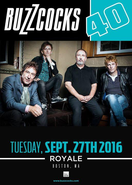 Buzzcocks w/ Residuels at Royale 9/27/2016 7:00:00 PM