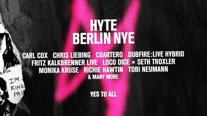 HYTE Berlin NYE 2016 12/31/2017 12:00:00 AM