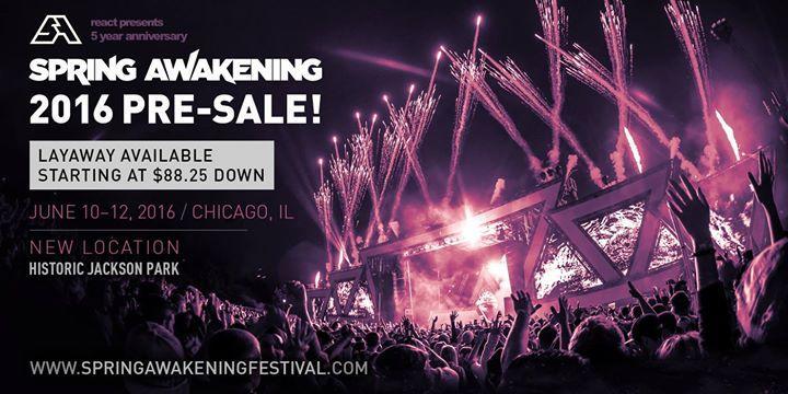 Spring Awakening Music Festival 2016 - OFFICIAL 6/10/2016 12:00:00 AM
