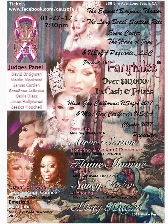 Miss Gay California USofA & Miss Gay California USofA Classic Pageants 1/27/2017 7:00:00 PM