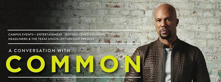A Conversation With Common 8/30/2016 7:00:00 PM