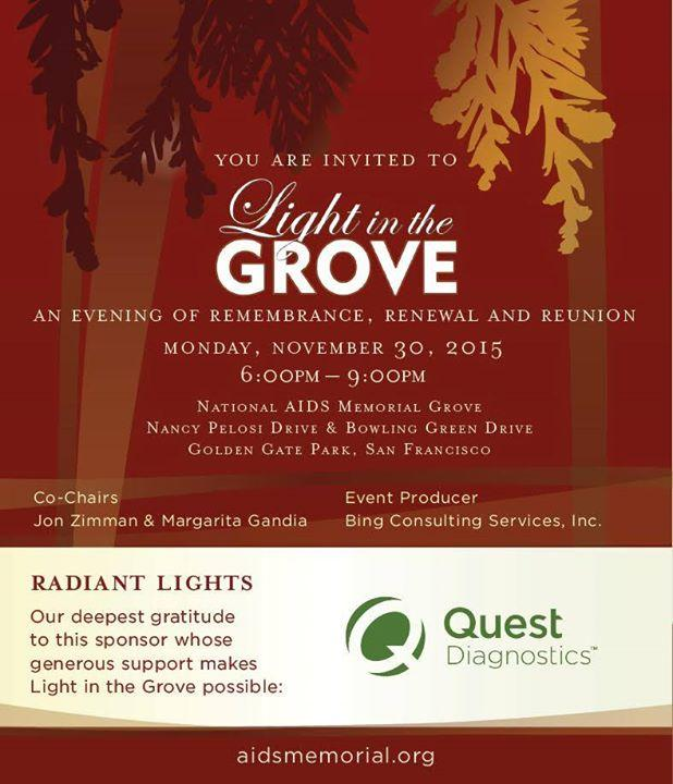 """""""Light in the Grove"""" 11/30/2015 6:00:00 PM"""