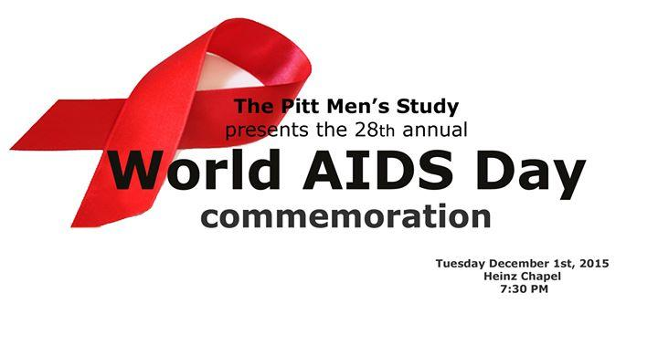 World AIDS Day Commemoration Pittsburgh 12/1/2015 7:30:00 PM