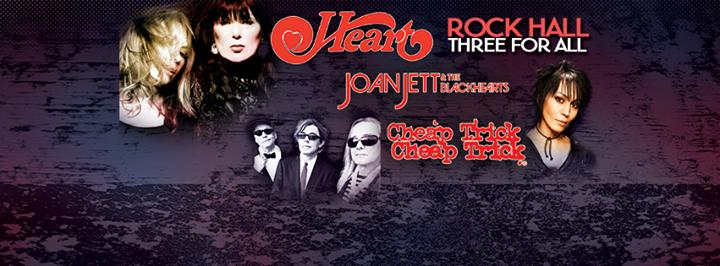 Heart with Joan Jett & The Blackhearts and Cheap Trick 8/21/2016 6:30:00 PM