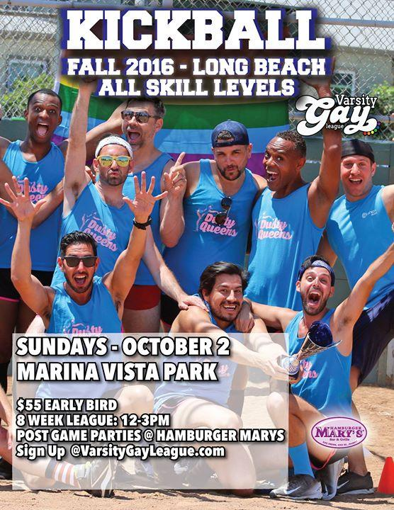 Long Beach Fall Kickball: 2016 10/2/2016 12:00:00 PM