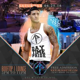 THE ATTIC DAYTIME PRIDE SATURDAY 6/25/16 ROOFTOP | LOUNGE 6/25/2016 5:00:00 PM
