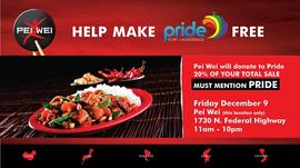 Pei Wei Fundraiser for Pride Fort Lauderdale 12/9/2016 11:00:00 AM