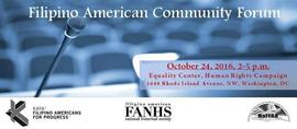 Filipino American Community Forum 10/24/2016 2:00:00 PM